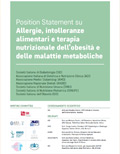 Position Statement on Allergies, Food Intolerances and Nutritional Therapy of Obesity and Metabolic Diseases