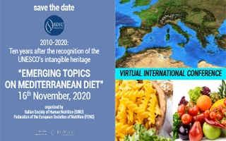"Virtual Conference ""EMERGING TOPICS ON MEDITERRANEAN DIET"""